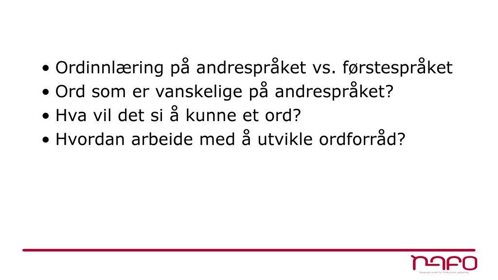vanskelige norske ord a stave