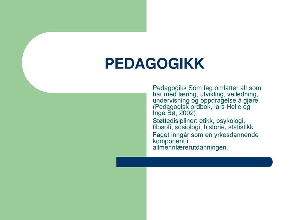 PEDAGOGIKK