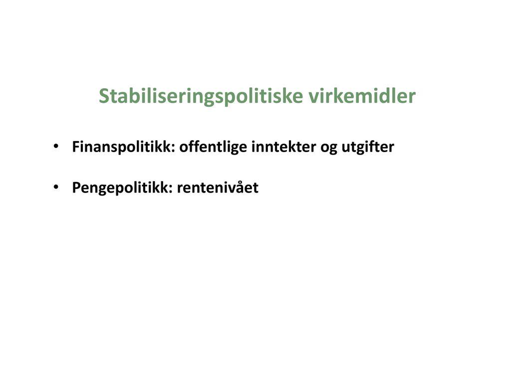 Stabiliseringspolitiske virkemidler