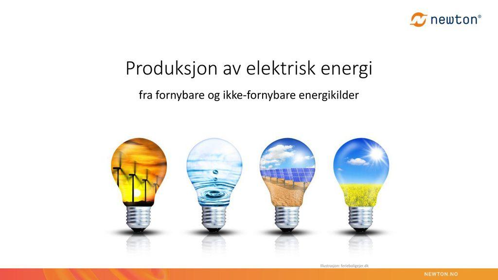 Produksjon av elektrisk energi
