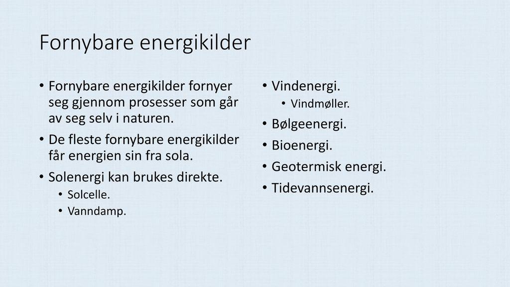 Fornybare energikilder