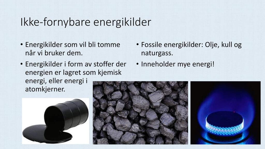 Ikke-fornybare energikilder
