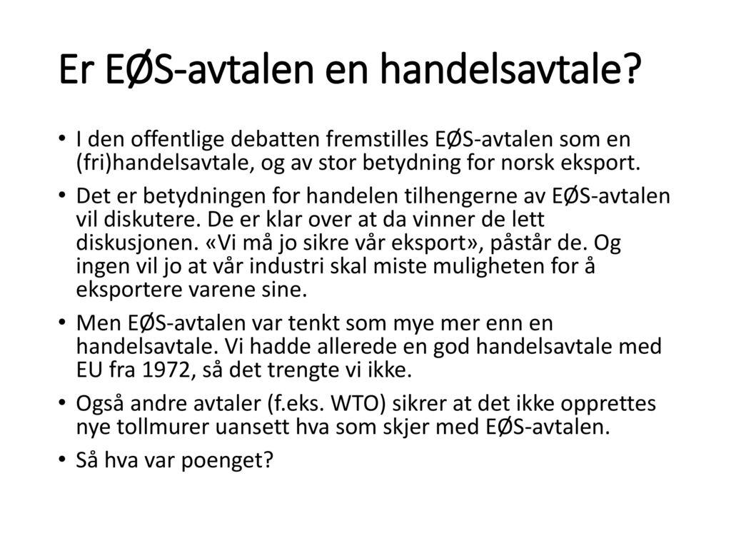 handelsavtale norge 2016