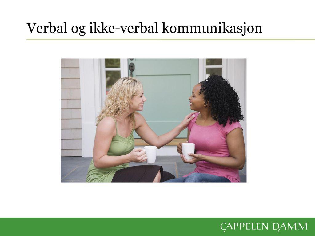 ikke verbale kommunikasjon