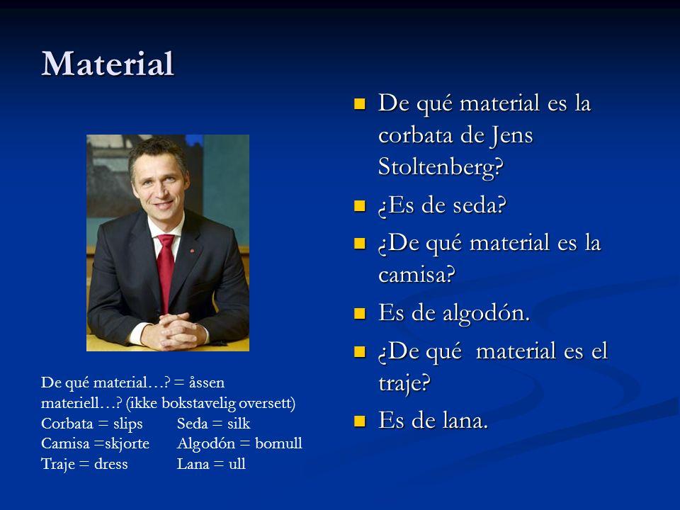 Material De qué material es la corbata de Jens Stoltenberg