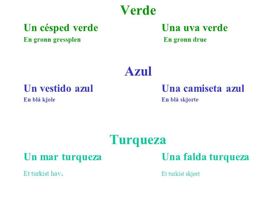 Verde Azul Turqueza Un césped verde Una uva verde