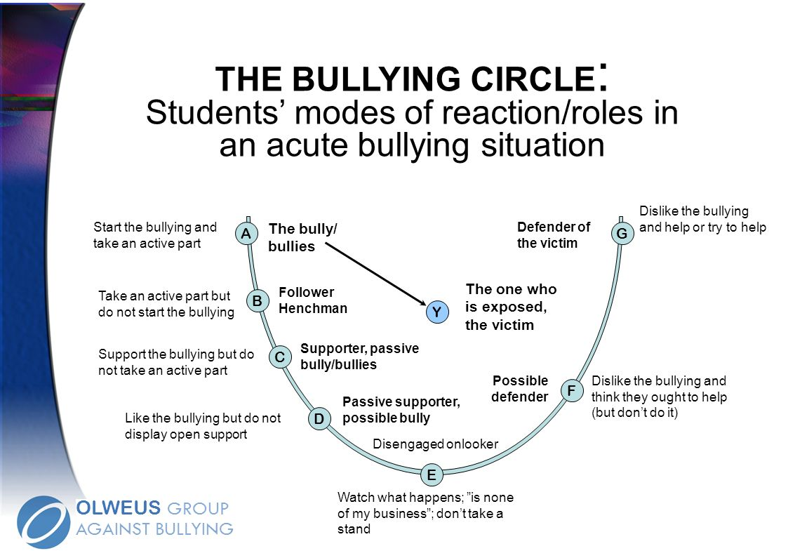 THE BULLYING CIRCLE: Students' modes of reaction/roles in an acute bullying situation