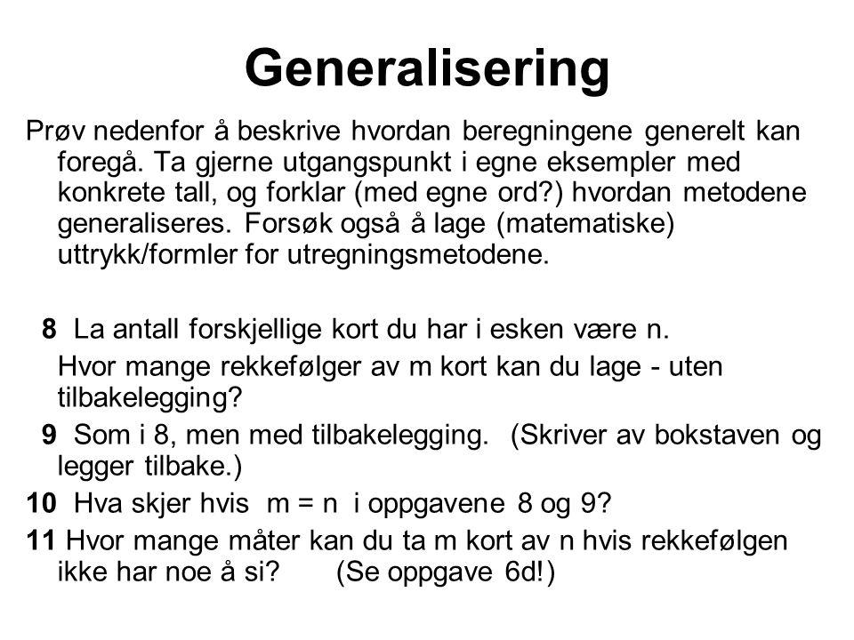 Generalisering