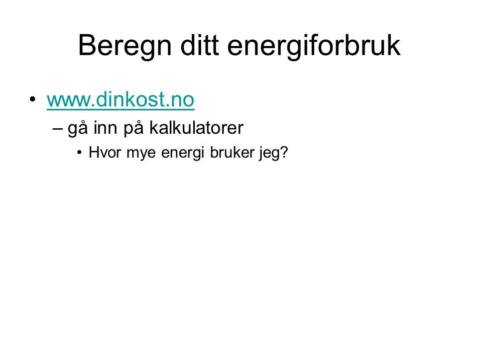 Beregn ditt energiforbruk