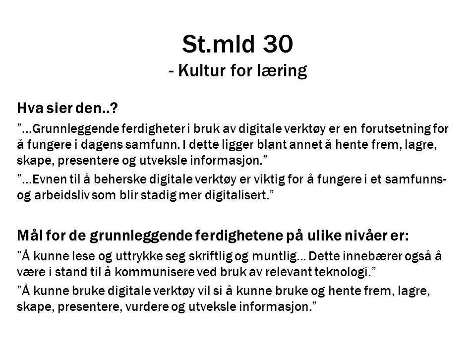 St.mld 30 - Kultur for læring