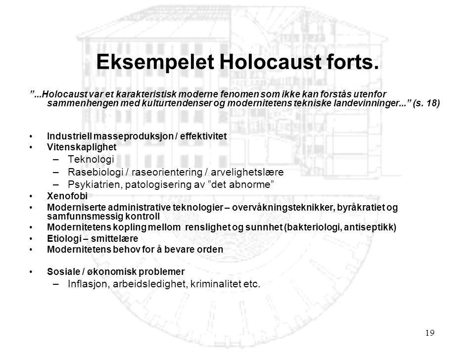 Eksempelet Holocaust forts.
