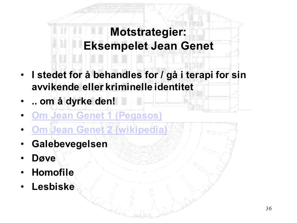 Motstrategier: Eksempelet Jean Genet