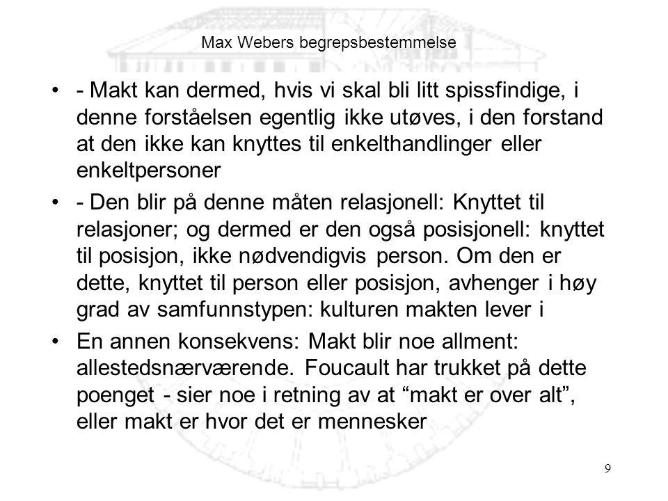 Max Webers begrepsbestemmelse