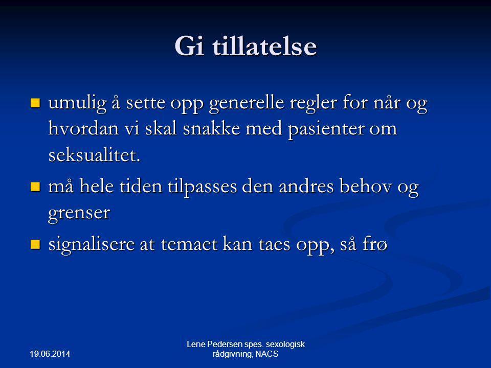 Lene Pedersen spes. sexologisk rådgivning, NACS