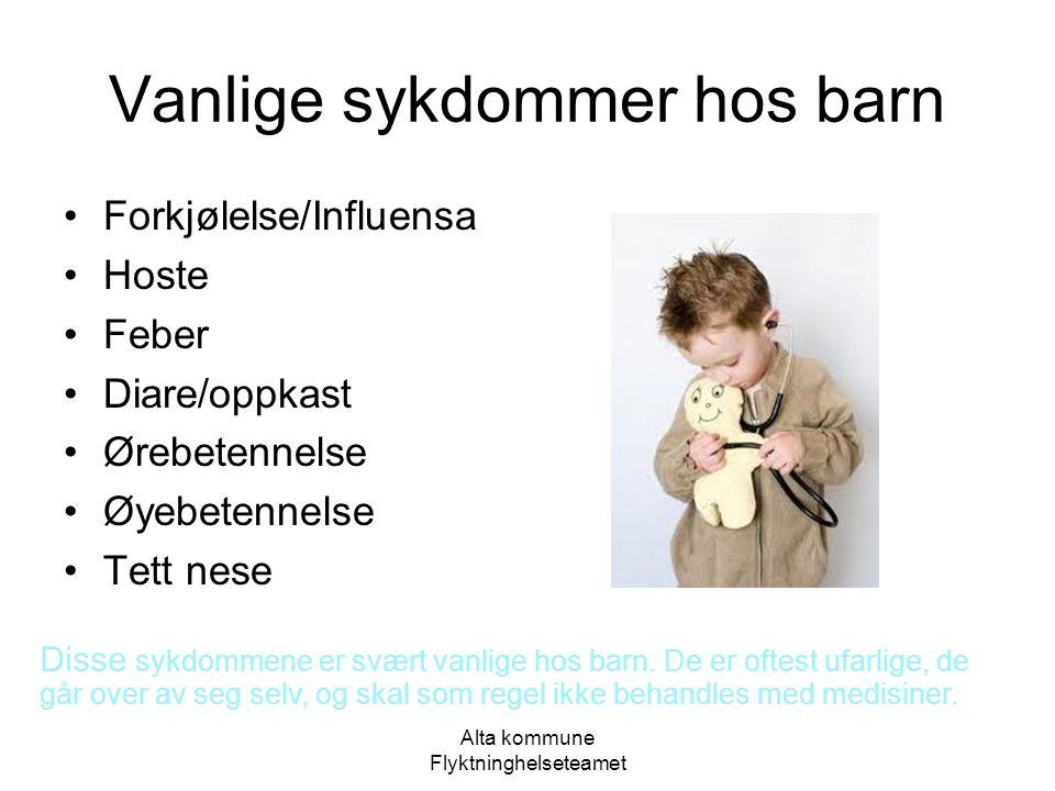 Vanlige sykdommer hos barn