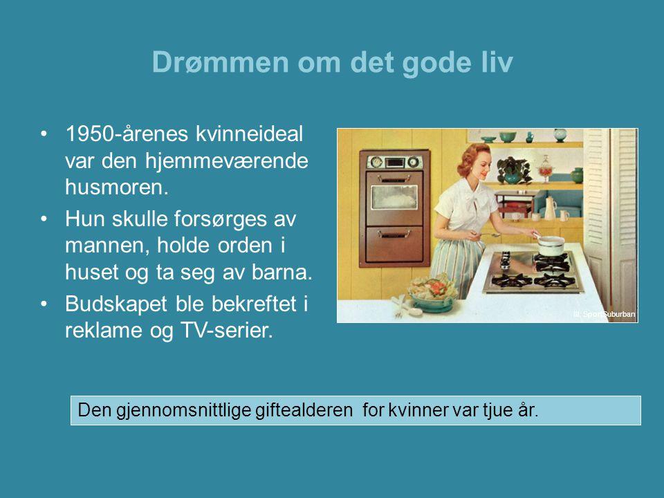 Drømmen om det gode liv 1950-årenes kvinneideal var den hjemmeværende husmoren.