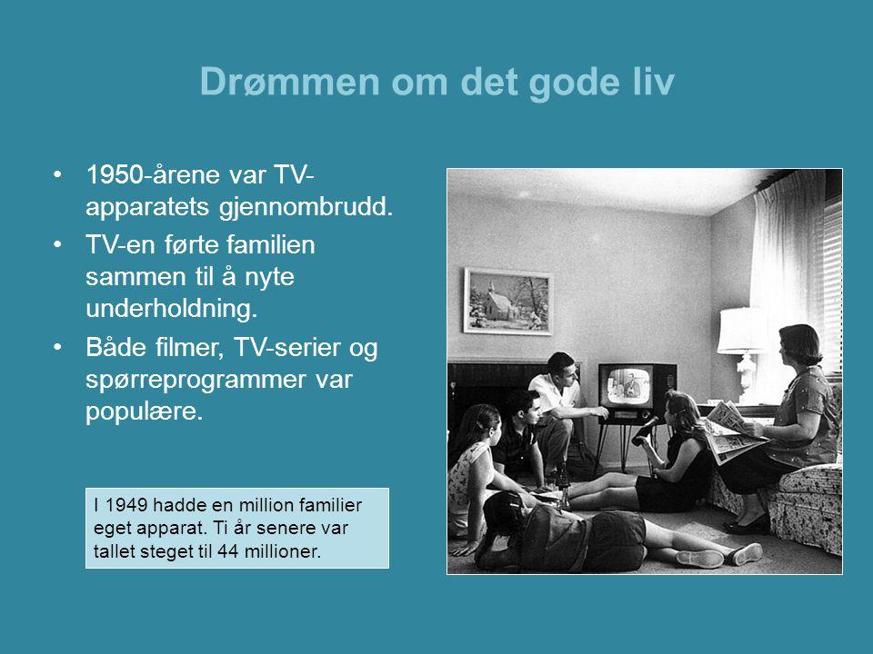 Drømmen om det gode liv 1950-årene var TV-apparatets gjennombrudd.
