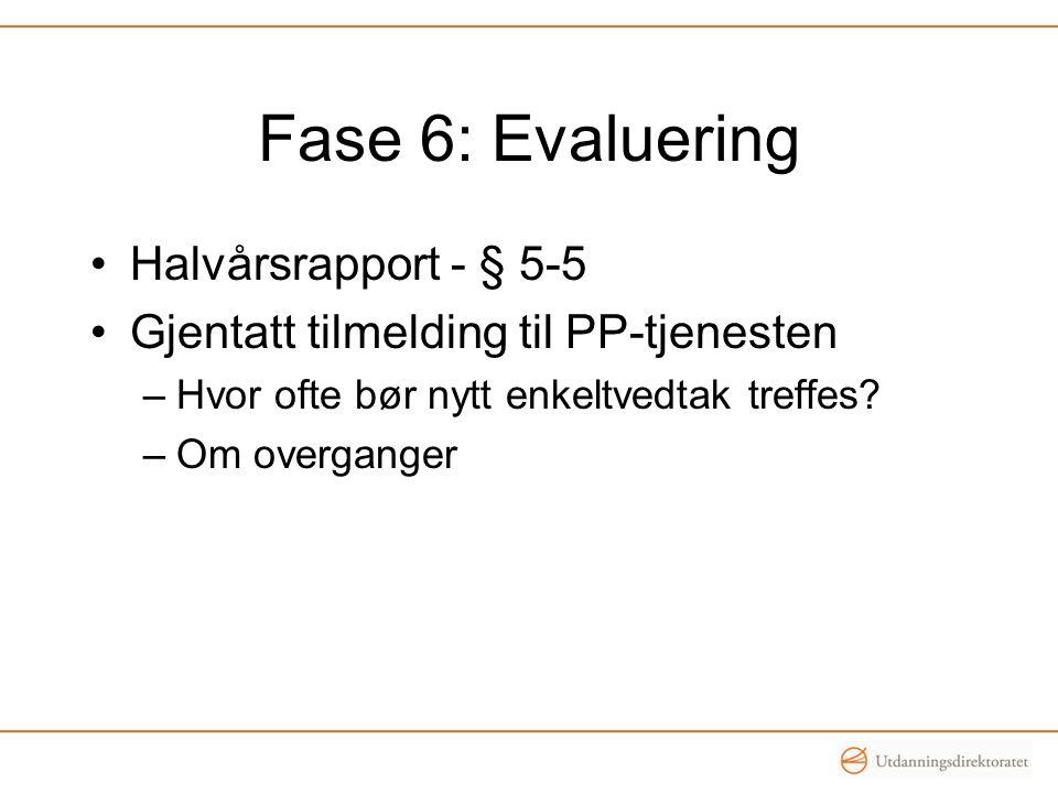 Fase 6: Evaluering Halvårsrapport - § 5-5