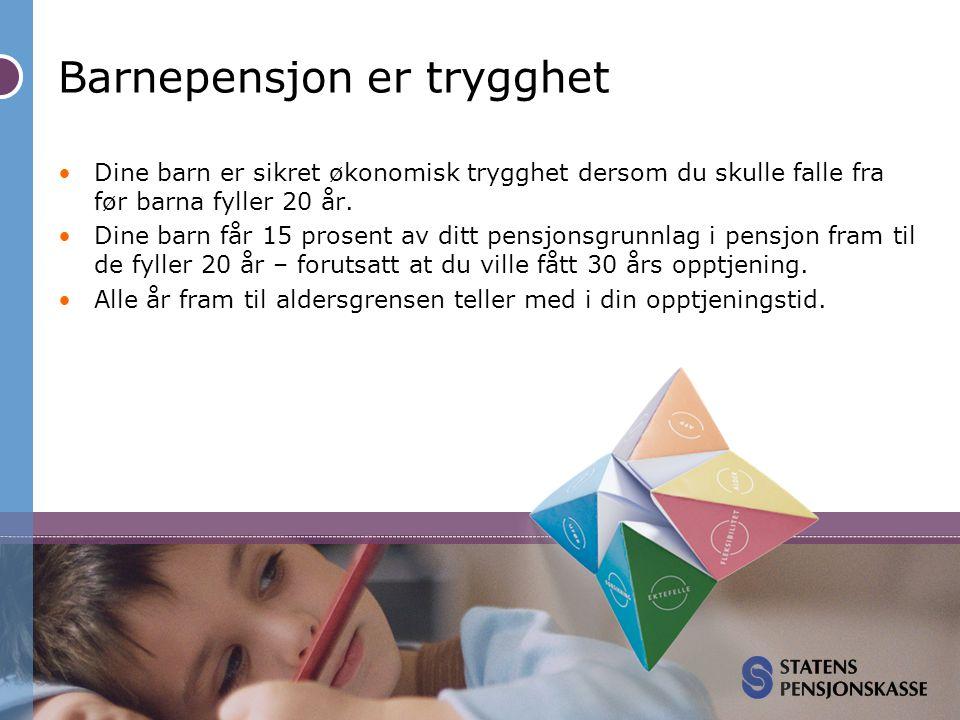 Barnepensjon er trygghet