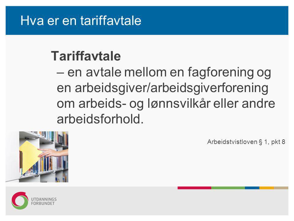 Hva er en tariffavtale