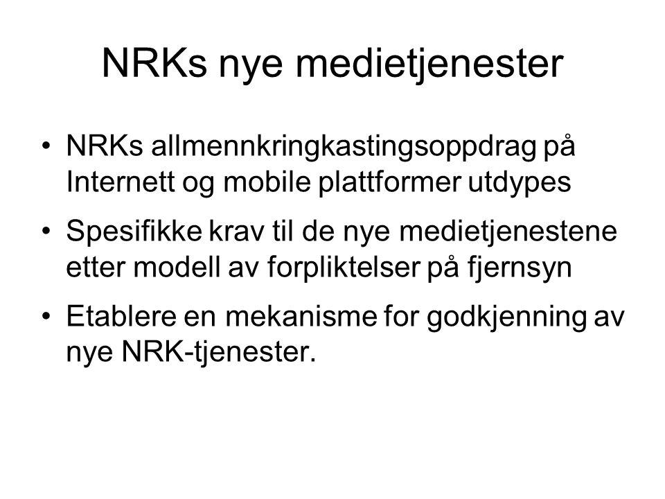 NRKs nye medietjenester