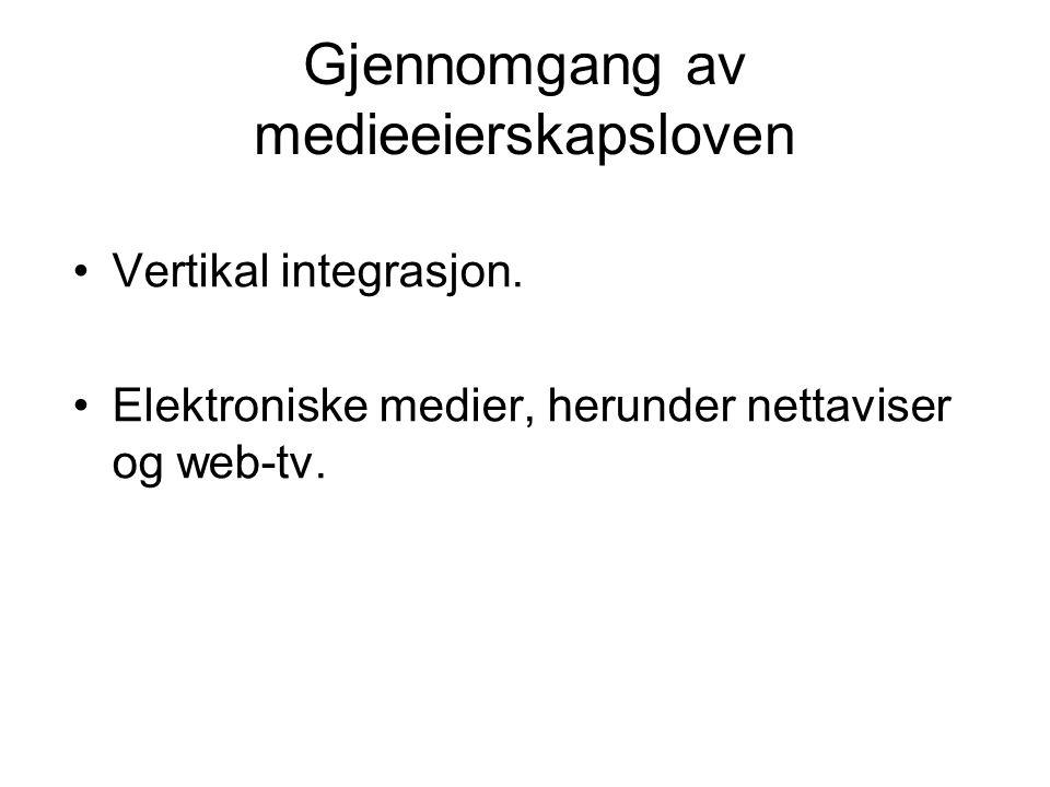 Gjennomgang av medieeierskapsloven