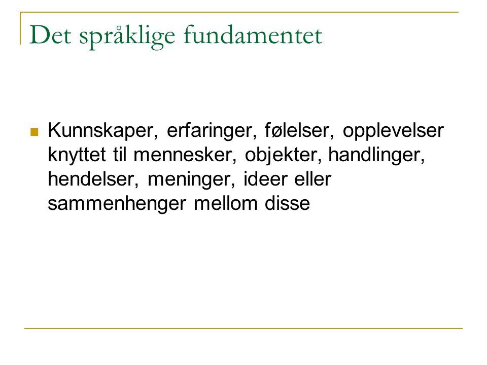 Det språklige fundamentet