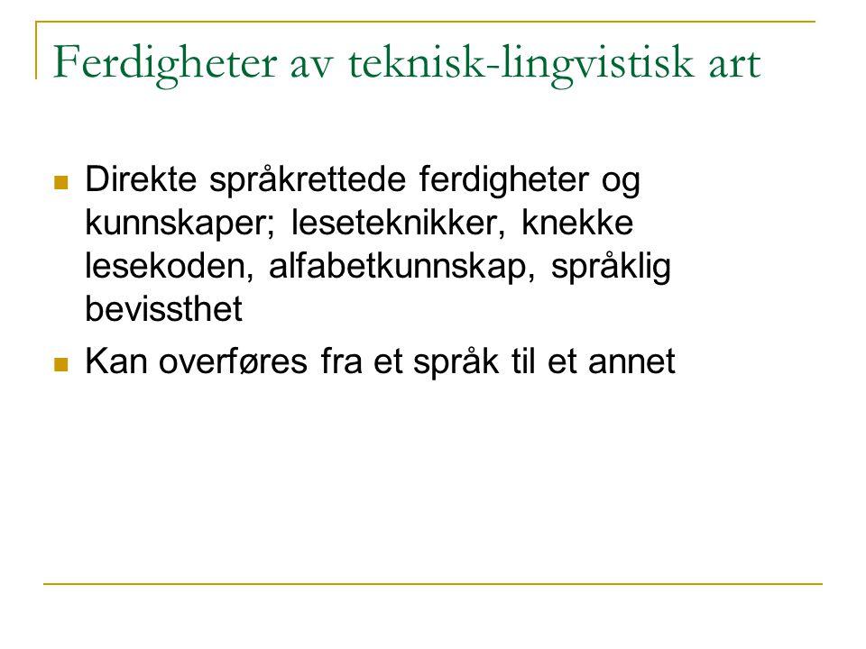 Ferdigheter av teknisk-lingvistisk art