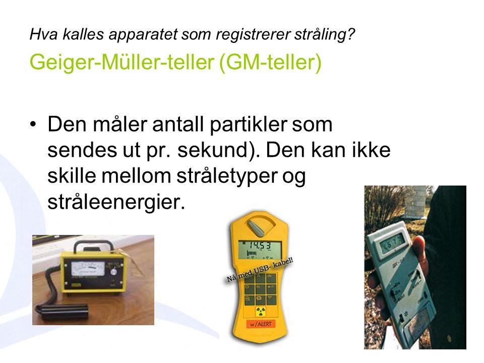 Geiger-Müller-teller (GM-teller)