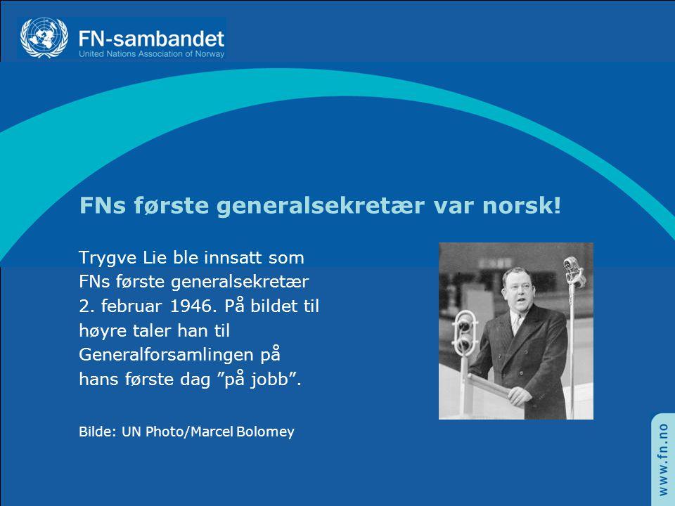 FNs første generalsekretær var norsk!
