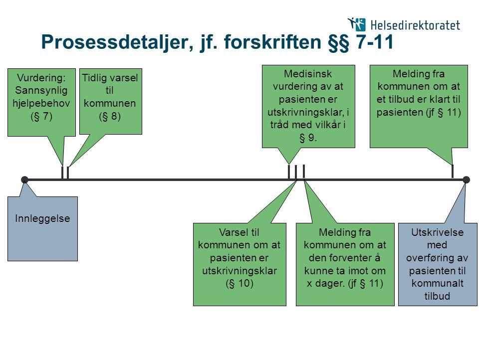 Prosessdetaljer, jf. forskriften §§ 7-11
