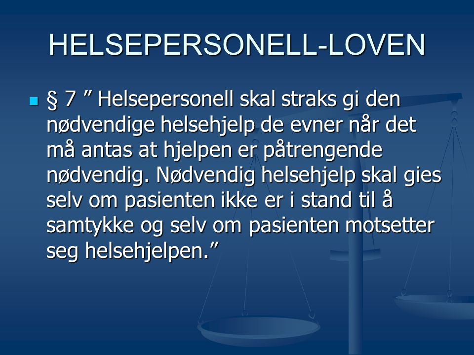 HELSEPERSONELL-LOVEN
