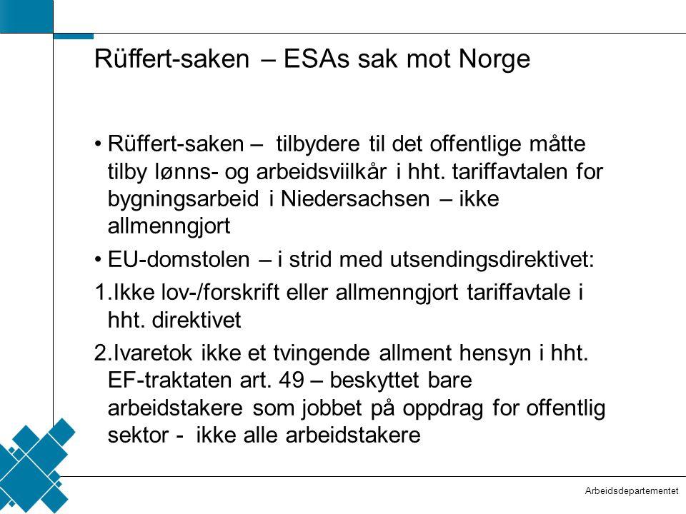 Rüffert-saken – ESAs sak mot Norge