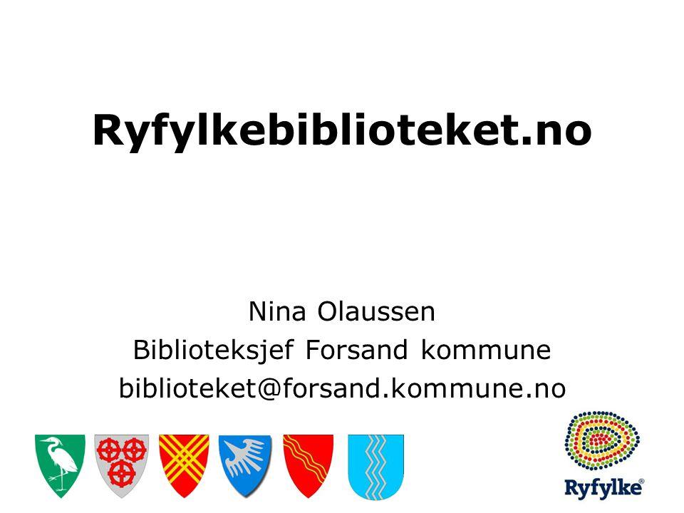 Biblioteksjef Forsand kommune