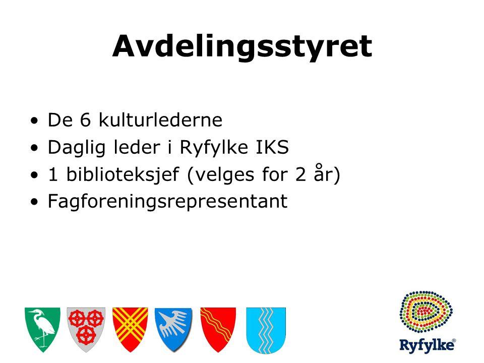 Avdelingsstyret De 6 kulturlederne Daglig leder i Ryfylke IKS