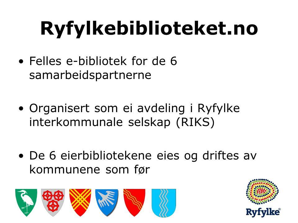 Ryfylkebiblioteket.no Felles e-bibliotek for de 6 samarbeidspartnerne