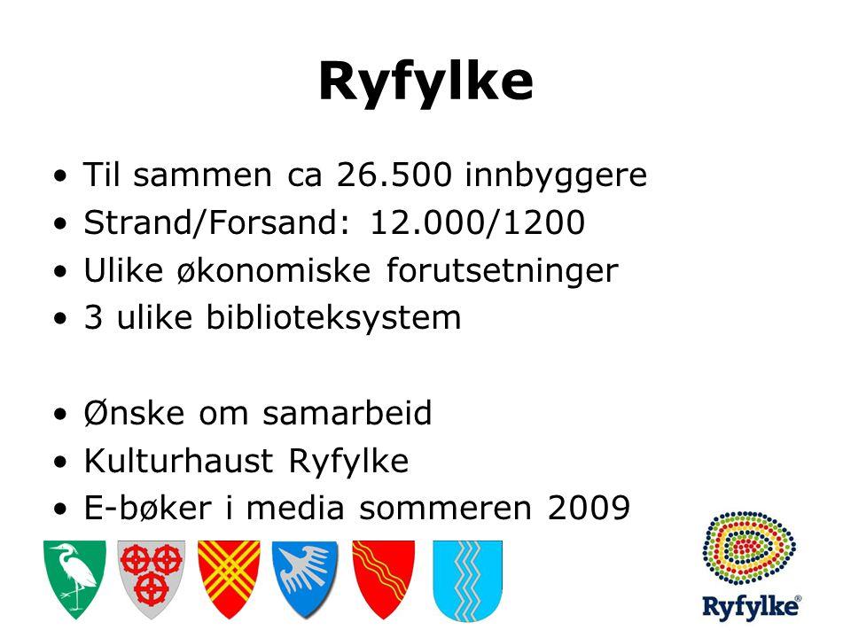 Ryfylke Til sammen ca 26.500 innbyggere Strand/Forsand: 12.000/1200