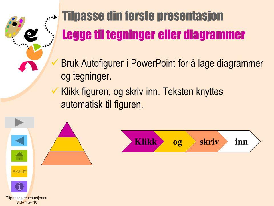 Tilpasse din første presentasjon Legge til tegninger eller diagrammer