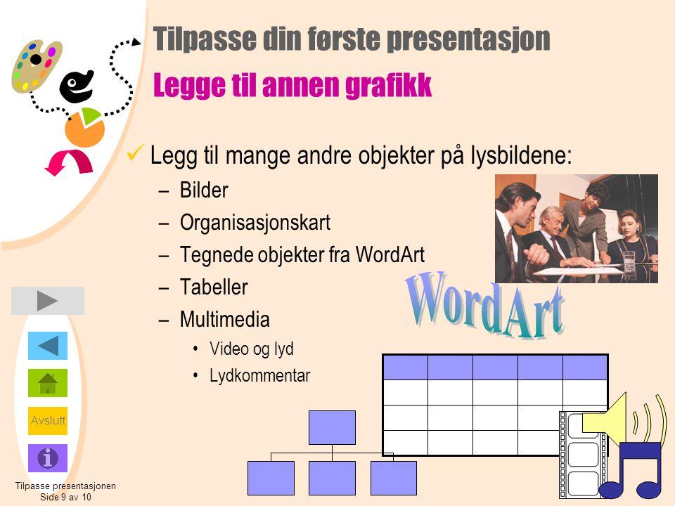 Tilpasse din første presentasjon Legge til annen grafikk