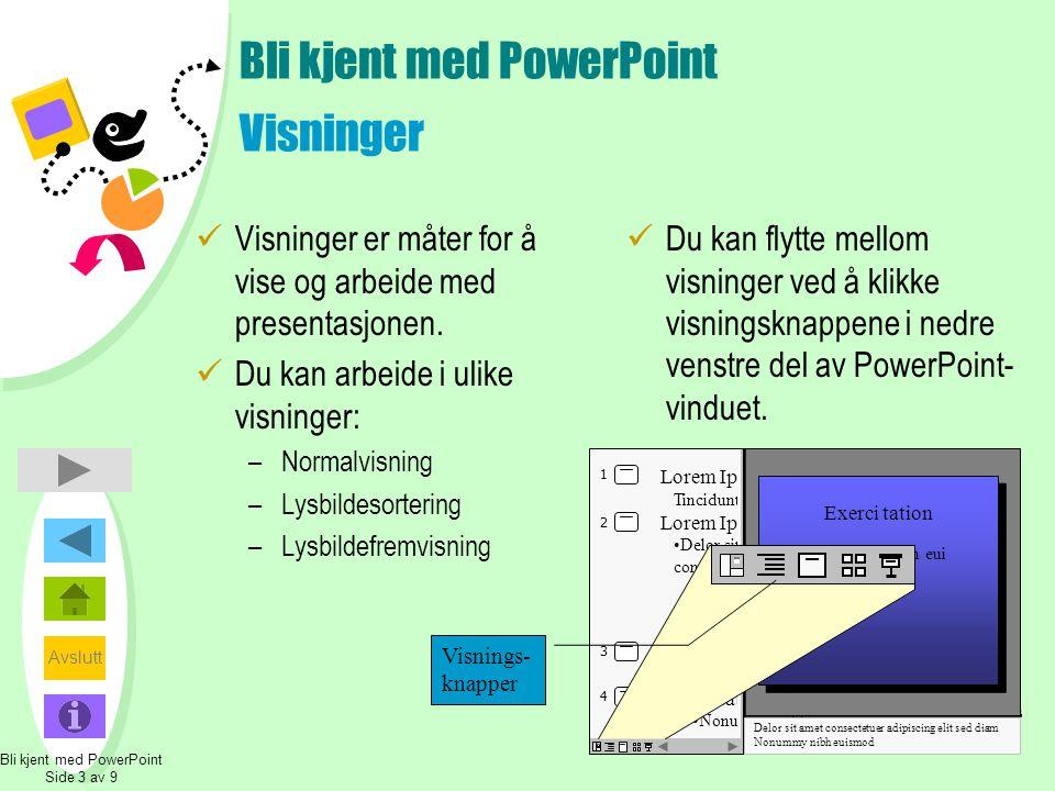 Bli kjent med PowerPoint Visninger