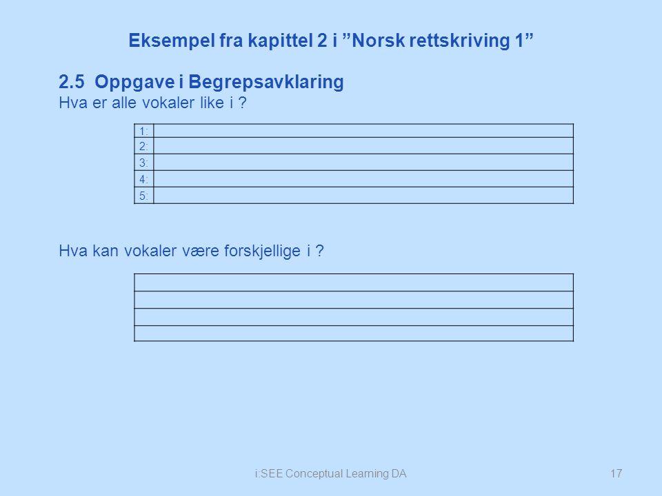 Eksempel fra kapittel 2 i Norsk rettskriving 1