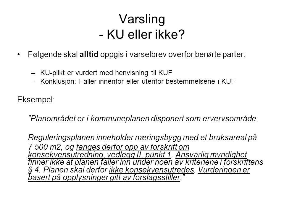Varsling - KU eller ikke