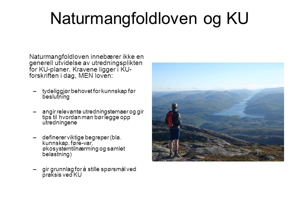 Naturmangfoldloven og KU