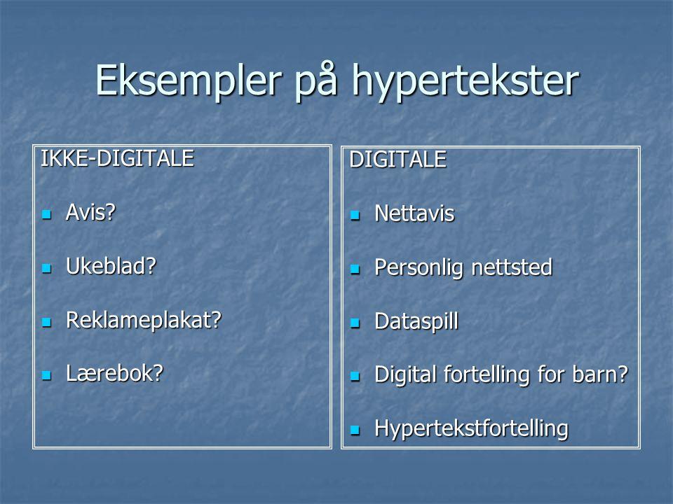 Eksempler på hypertekster