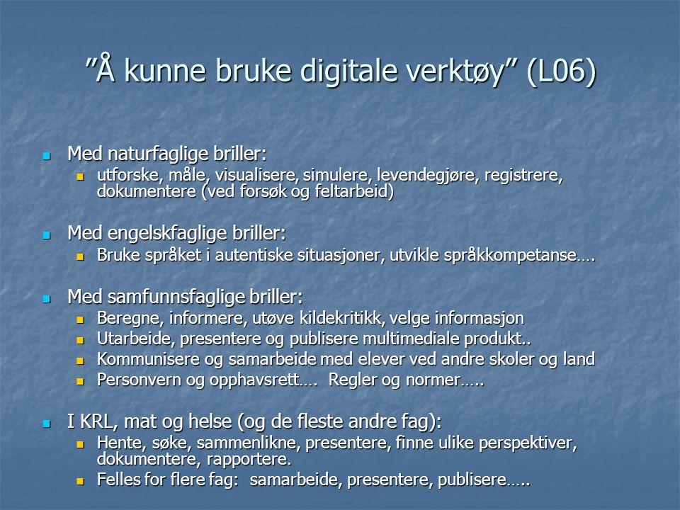 Å kunne bruke digitale verktøy (L06)