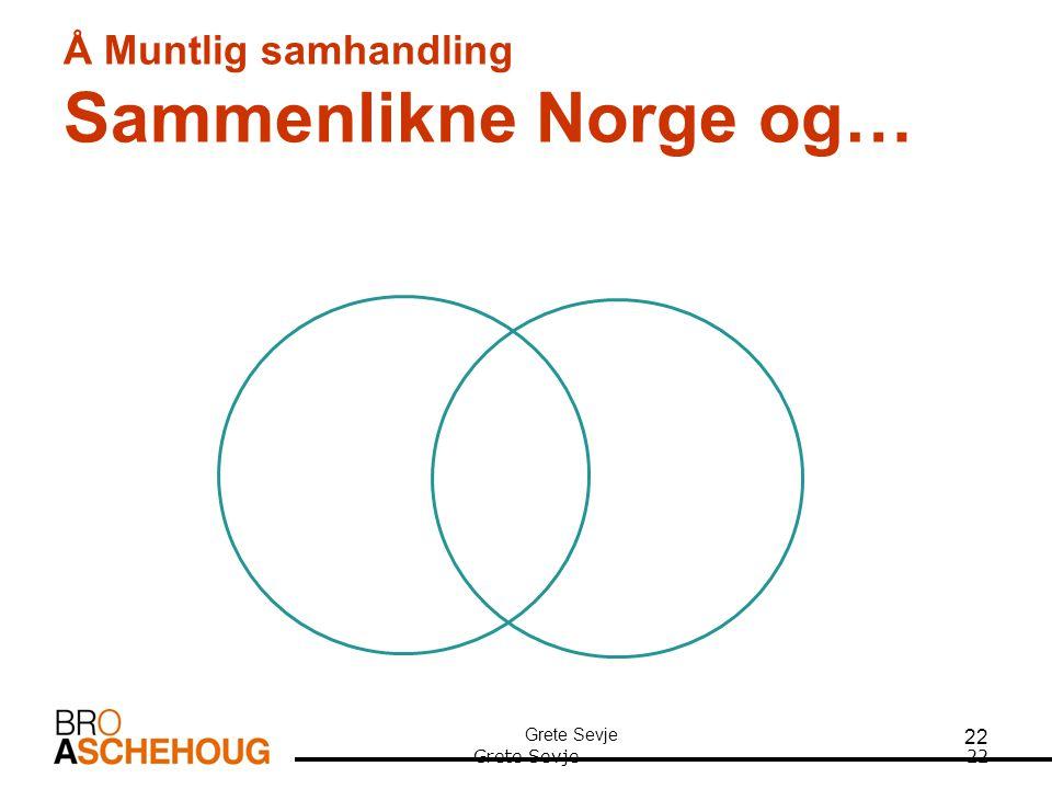 Å Muntlig samhandling Sammenlikne Norge og…