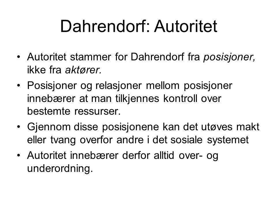 Dahrendorf: Autoritet