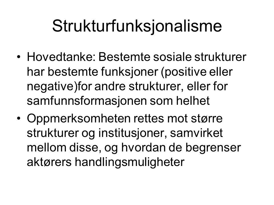 Strukturfunksjonalisme