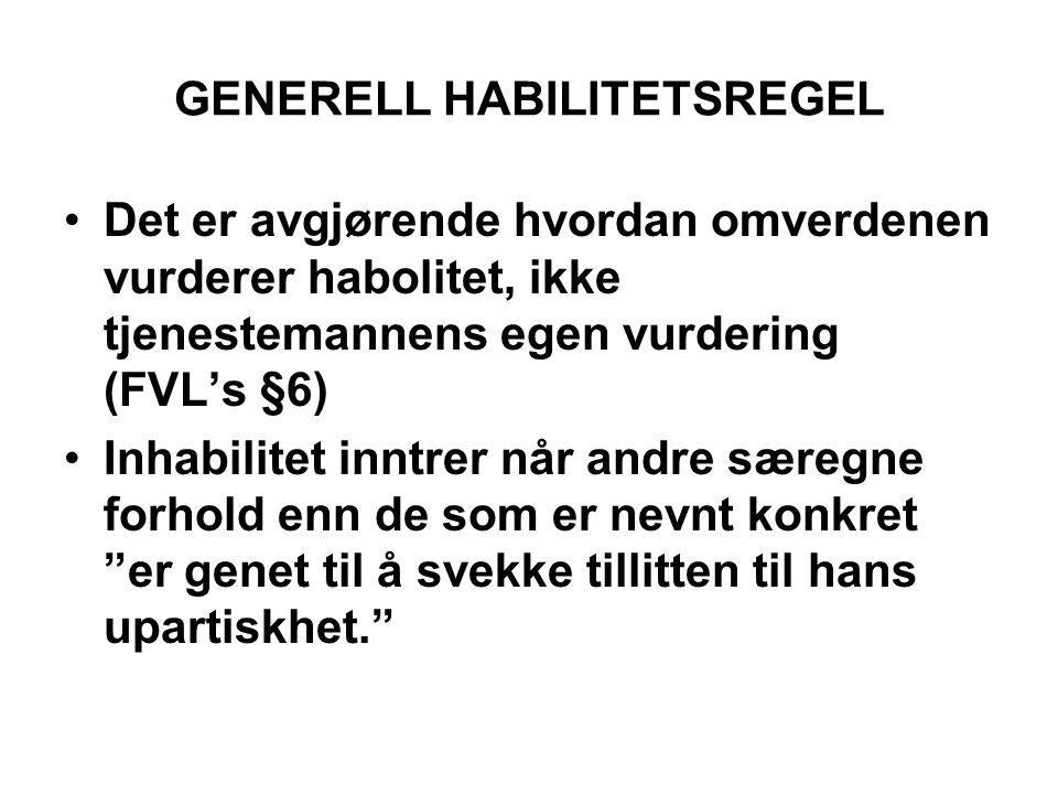 GENERELL HABILITETSREGEL