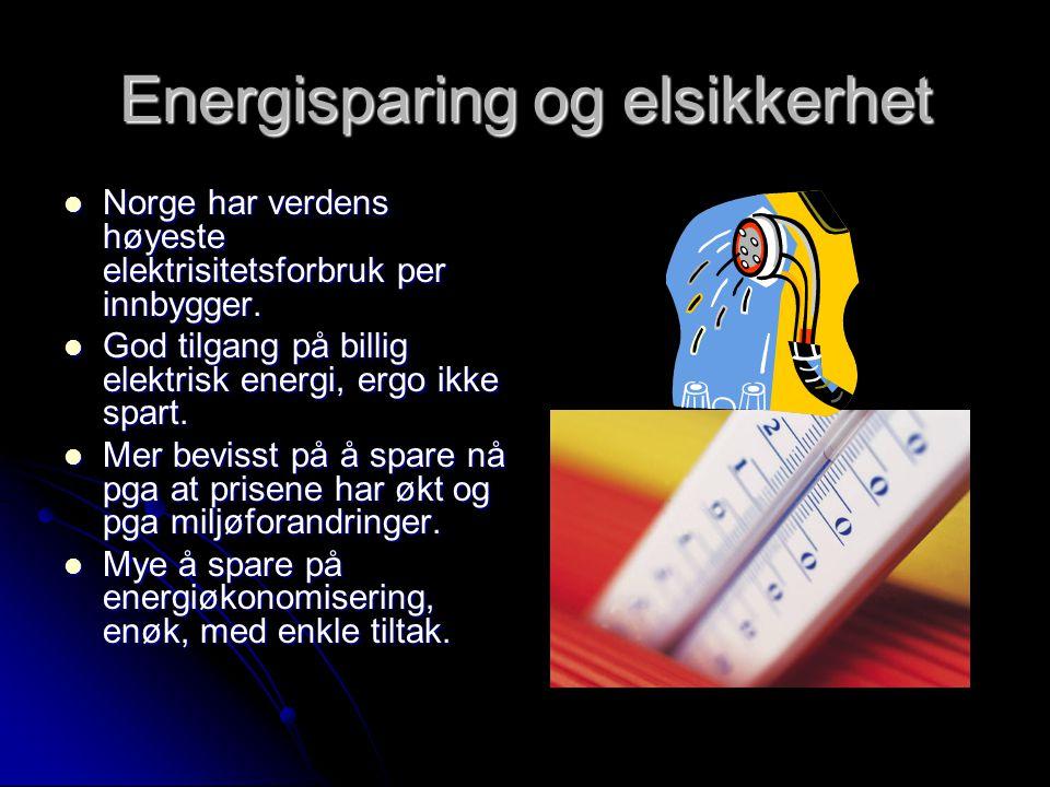 Energisparing og elsikkerhet